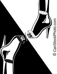 chaussures, à hauts talons