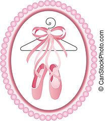 chaussures ballet, étiquette