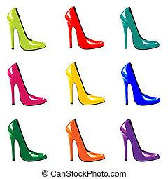 chaussures, coloré
