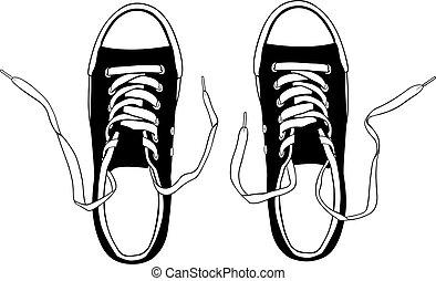chaussures, illustration