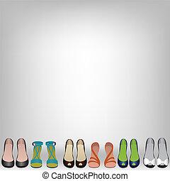 chaussures, plancher