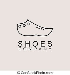 chaussures, silhouette, noir