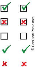 checkbox, tique, croix, collection