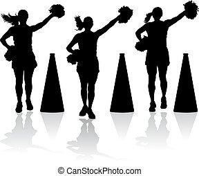 cheerleaders, porte-voix