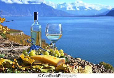 cheese., suisse, vin, lavaux, région