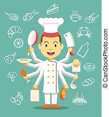 chef cuistot, cooking.
