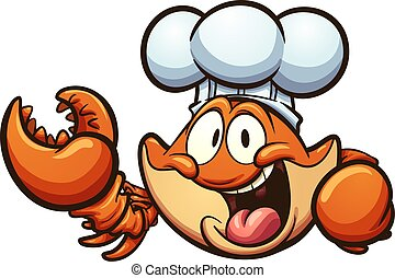 chef cuistot, crabe
