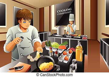 chef cuistot, cuisine, concurrence