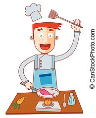 chef cuistot, fish, cuisine
