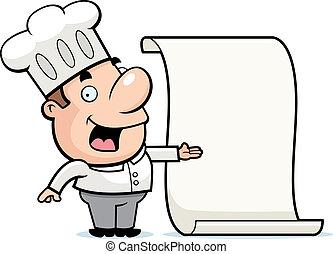 chef cuistot, menu