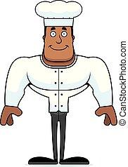 chef cuistot, sourire, dessin animé