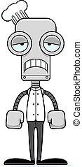 chef cuistot, triste, robot, dessin animé