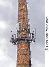 cheminée, base, stations