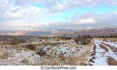 cheminées, cappadocia, fée, paysage