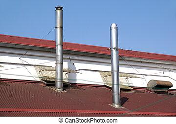 cheminées, toit