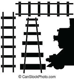 chemin fer, train, illustration