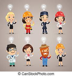 chemins, coupure, ensemble, additionnel, groupé, caractères, format., heads., profession, idée, différent, chaque, leur, au-dessus, signes, included, élément, eps, separately., fichier