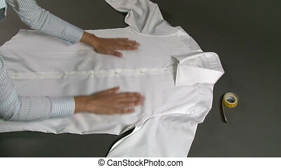 chemise, largeur, homme, poitrine, mesurer, tailleur