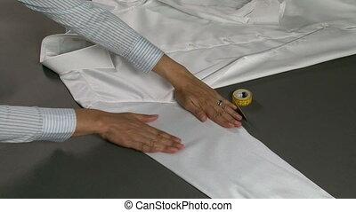 chemise, largeur, manches, homme, mesurer, tailleur