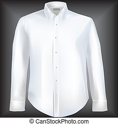 chemise, manches, long