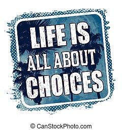 chemise, t, graphique, affiche, sur, ou, vie, choix, tout