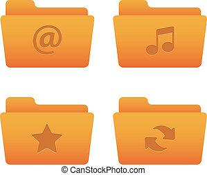 chemises oranges, 01, icônes internet