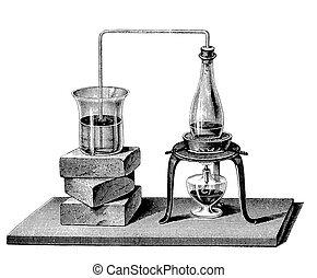 chemistry:, vapeur, chauffage