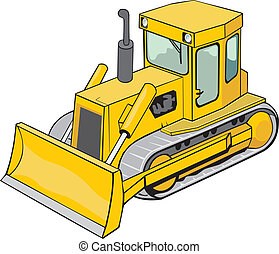 chenille, bulldozer