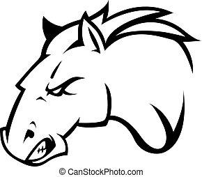 cheval, conception, illustration