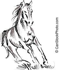 cheval, illustration