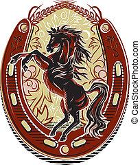 cheval sauvage, crête, occidental