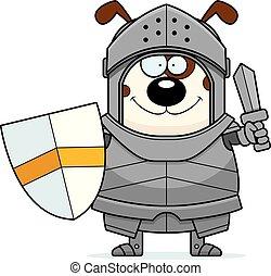 chevalier, dessin animé, épée, chien