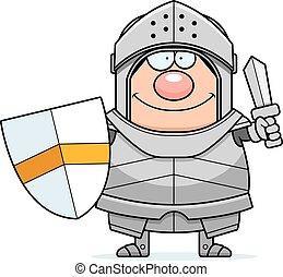 chevalier, dessin animé, épée