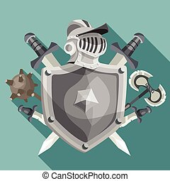 chevalier, emblème, illustration