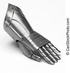 chevalier, fer, gant