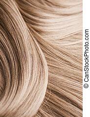 cheveux, blonds, texture