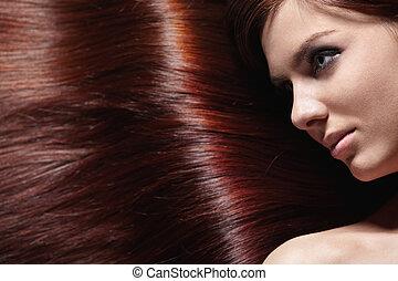 cheveux, brillant