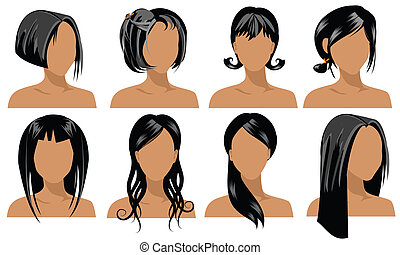 cheveux, styles