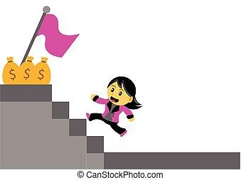 chibi, femme, caractère, dessin animé
