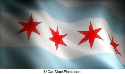 chicago, drapeau