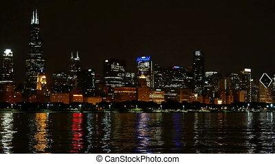 chicago, horizon, panorama