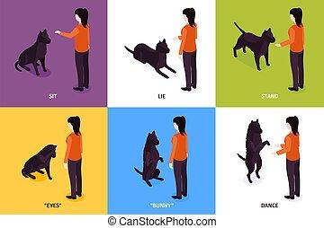 chien, concept, formation, conception