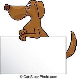 chien, dessin animé, conception, planche, ou, carte