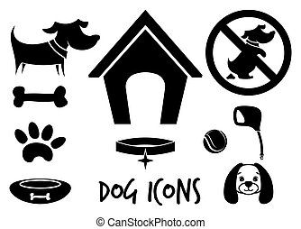 chien, icônes