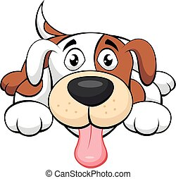 chien, mignon, dessin animé