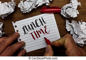 chiffonné, concept, texte, milieu, marqueur, petit déjeuner, avant, time., mistakes., papiers, plusieurs, tenue, après, déjeuner, signification, cahier, jour, homme, tries, page, dîner, écriture, repas