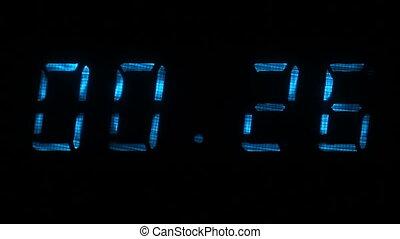 chiffres, bleu, 00:30, intervalle, secondes, 30, -, minuteur, 00:00, compte rebours, numérique