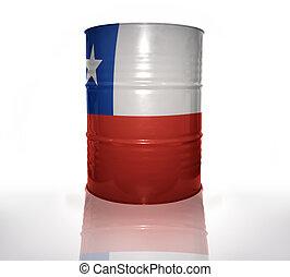 chilien, baril, drapeau