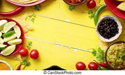 chilli, ingrédients, préparé, carne, attente, délicieux, être, duper