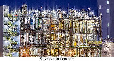 chimique, cadre, industriel, usine, détail